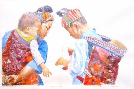 la decouverte, aquarelle de joel Tenzin